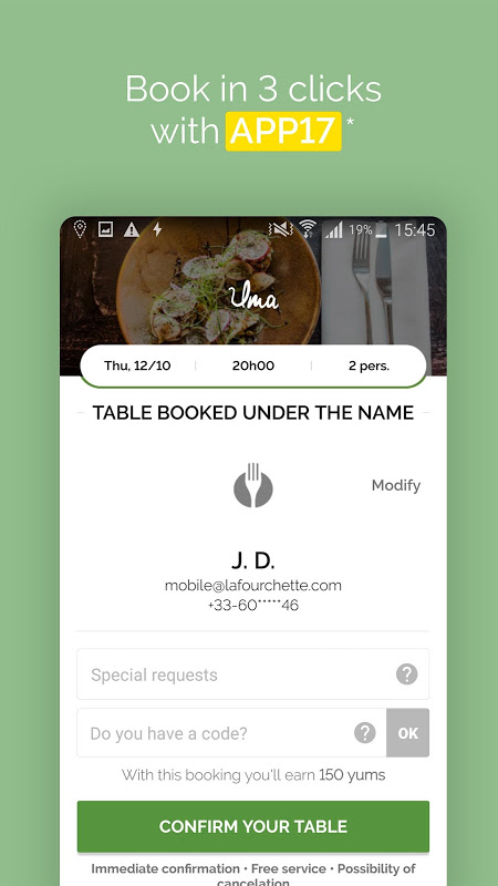 Android TheFork - Restaurants booking Screen 14