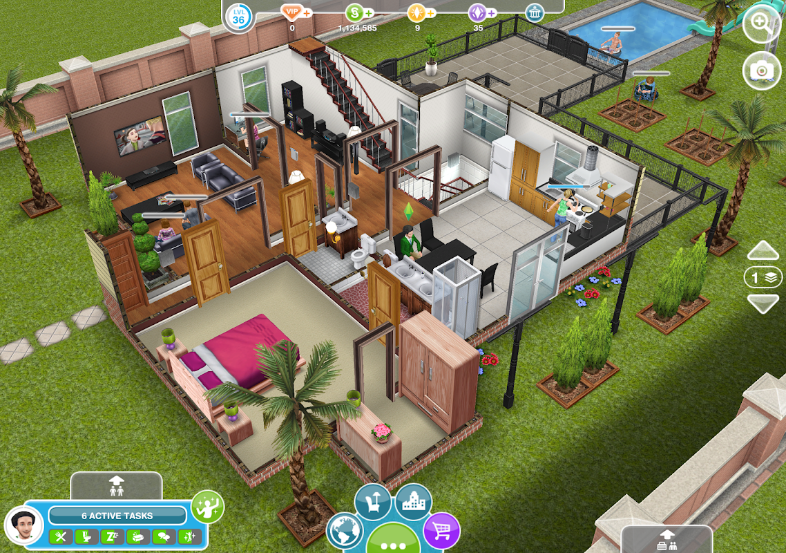 Android The Sims FreePlay Screen 5