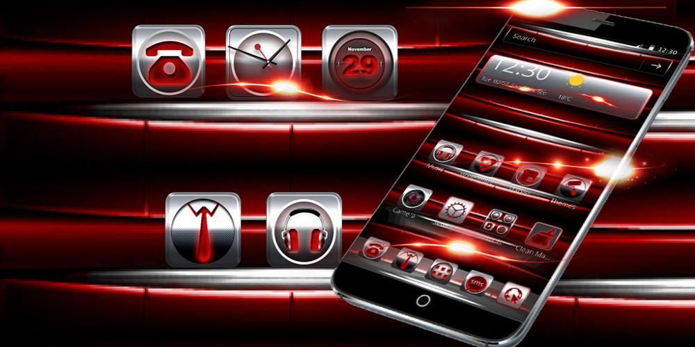 Red Iron Icons Theme 1.1.3 Screen 3