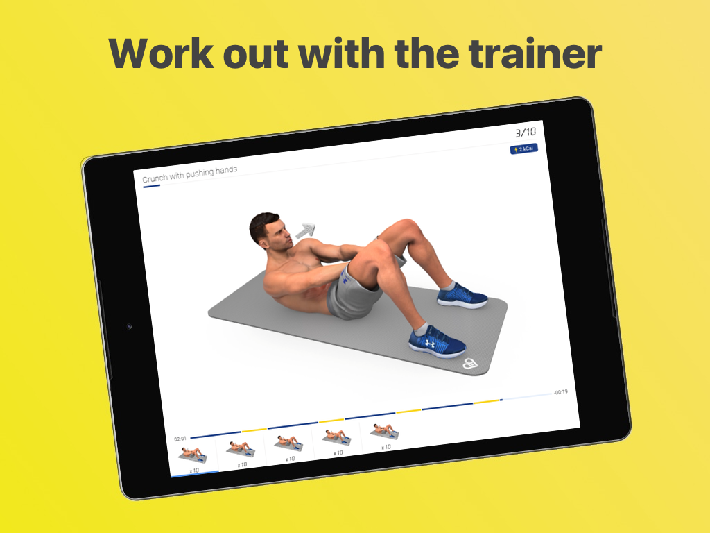 Android Abs Workout - Daily Fitness Screen 3