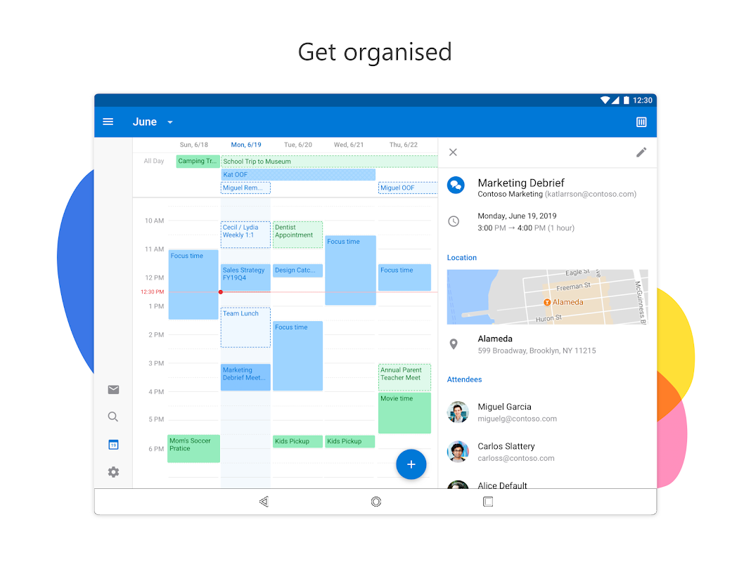 Android Microsoft Outlook Screen 2