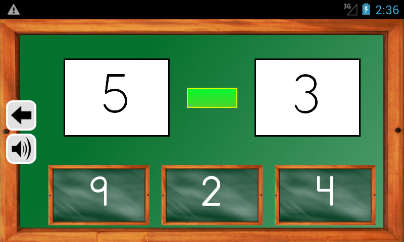 Android Maths Trainer Screen 3