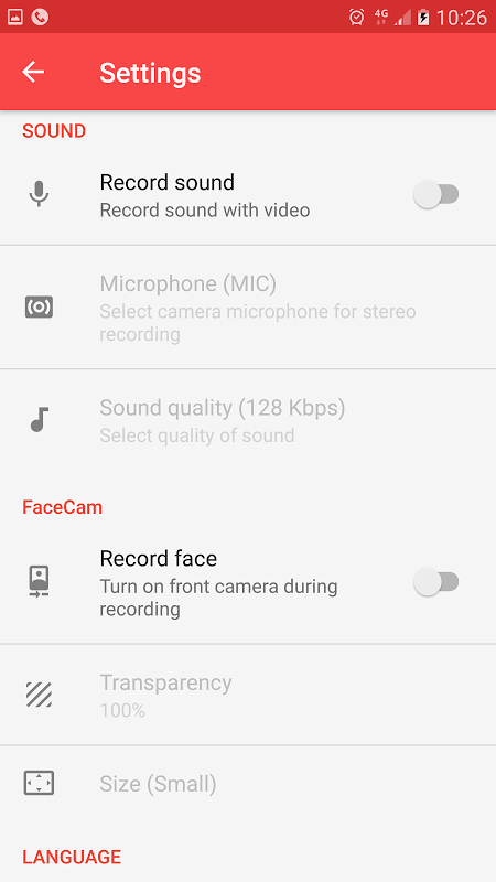 Android Screen Recorder License Screen 7