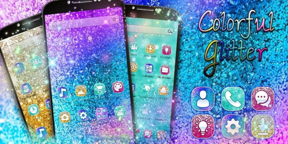 Android Colorful Glitter Dreamy Theme Screen 3