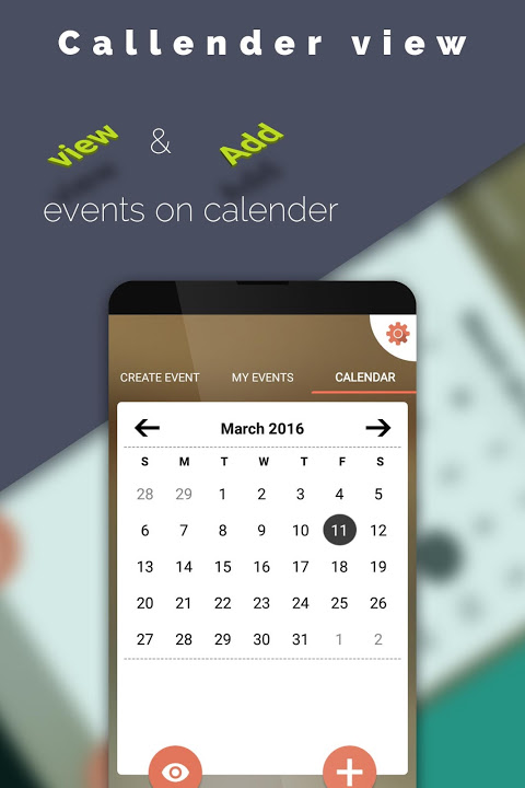 Event Reminder Manager 1.1 Screen 1