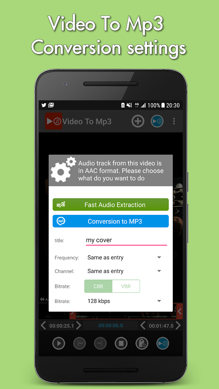 Android Video to mp3 Screen 2