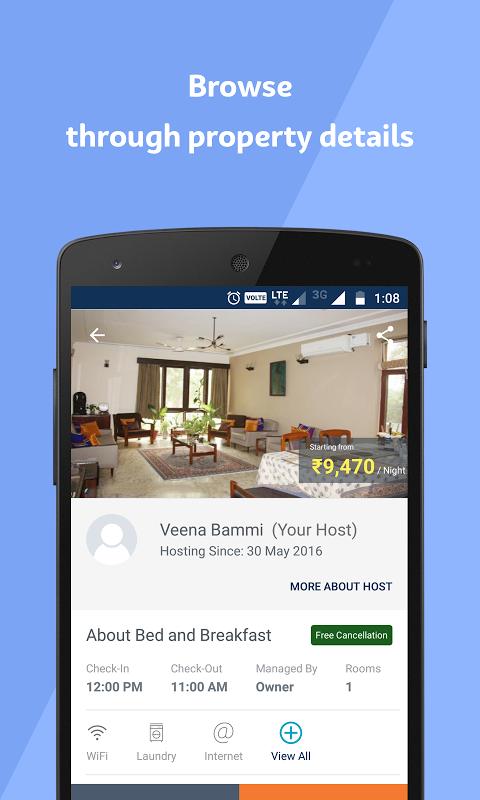 Android Travelguru Homestays Screen 2