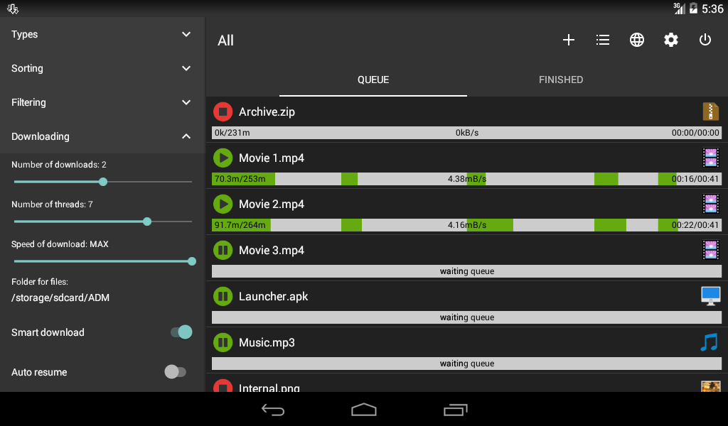 Advanced Download Manager 7.3.4 Screen 2