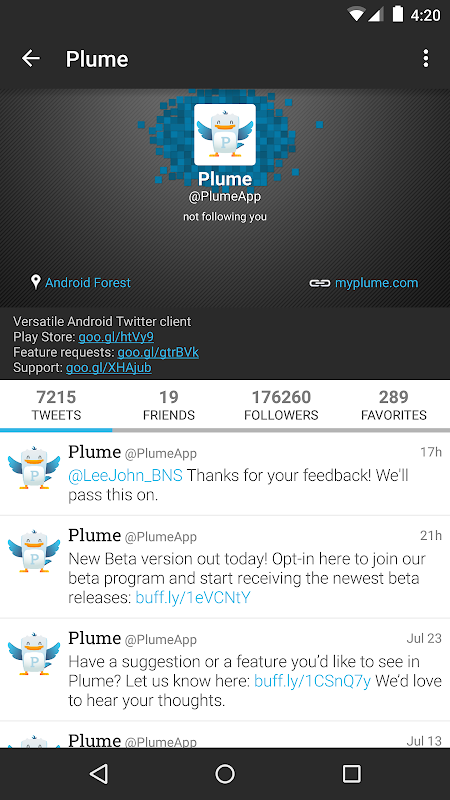 Plume for Twitter 6.29.0 Screen 3