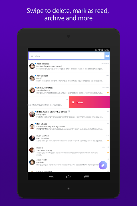 Android Yahoo Mail – Stay Organized Screen 9