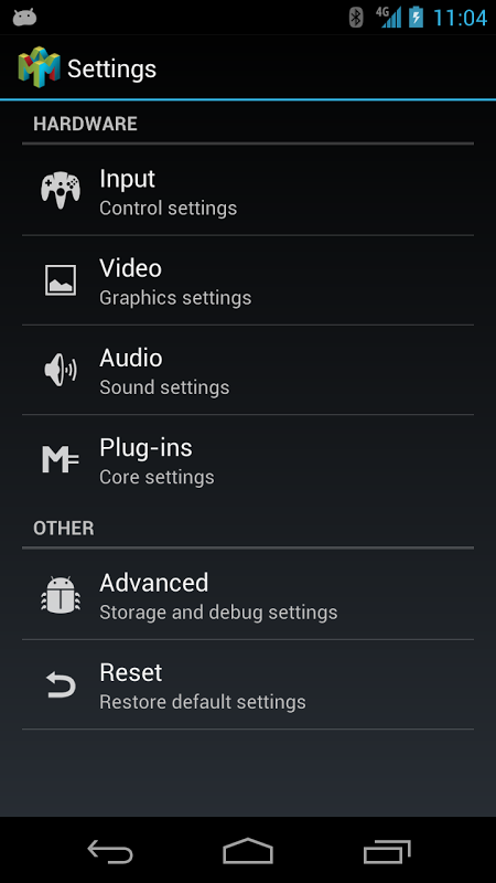 Android Mupen64Plus AE (N64 Emulator) Screen 1
