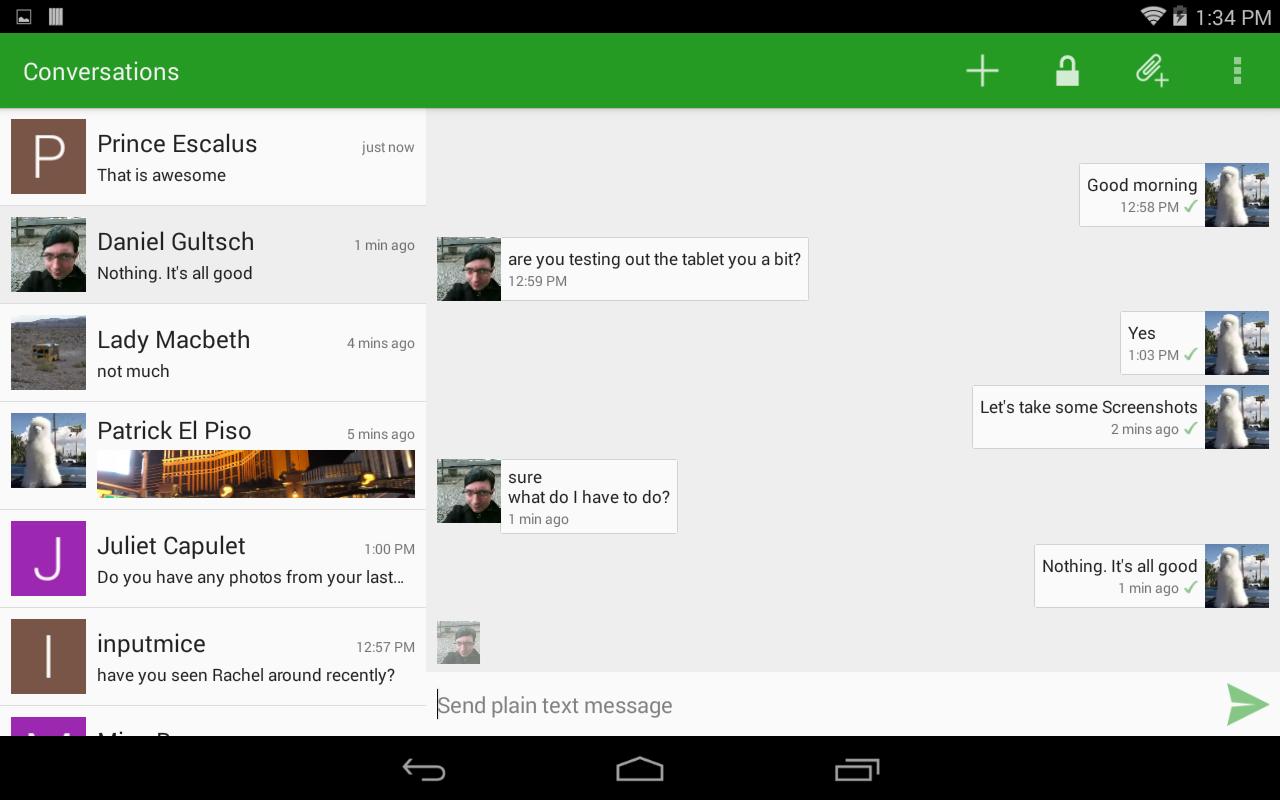 Conversations (Jabber / XMPP) 1.23.3 Screen 1