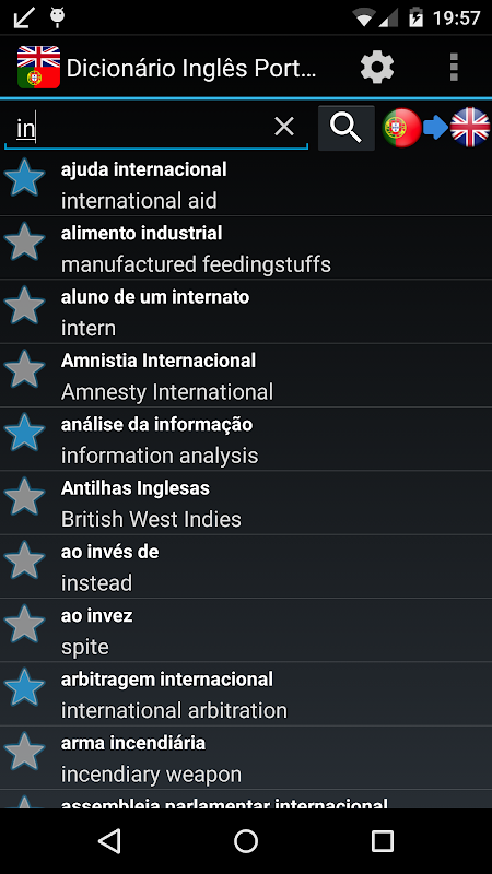 Android Offline English Portuguese dic Screen 3