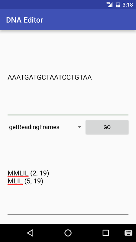 Android DNA Editor Screen 2