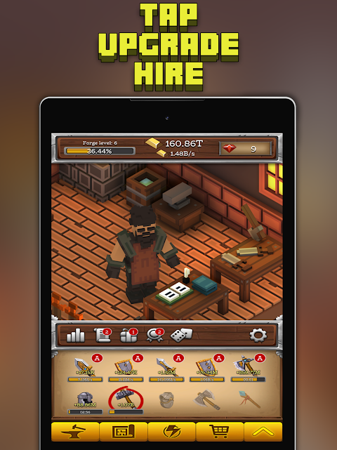 Android ForgeCraft - Idle Tycoon. Blacksmith Business Screen 7