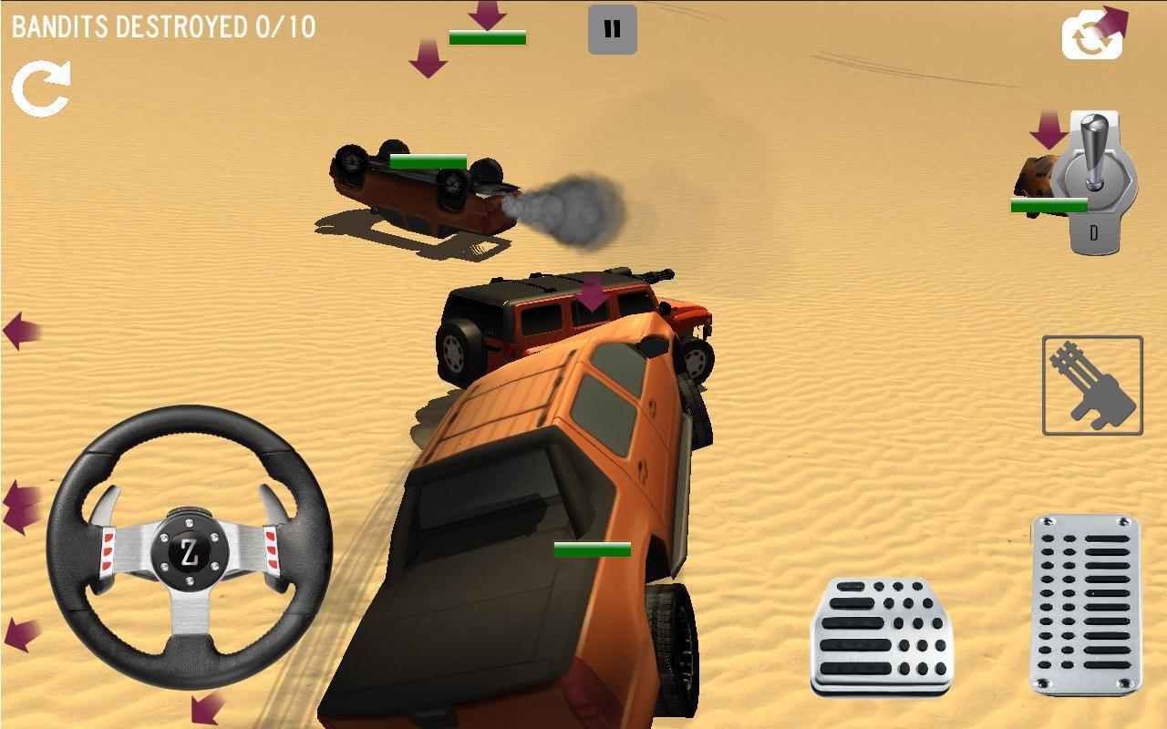 Android 4x4 Desert Safari Attack Screen 2