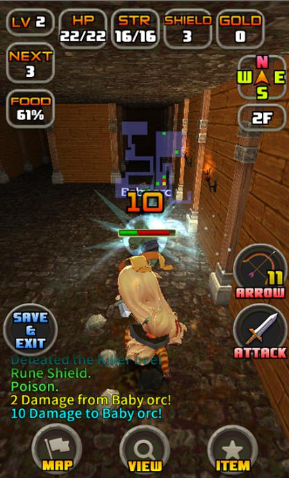 Android UnityRogue3D roguelike game tools Screen 5
