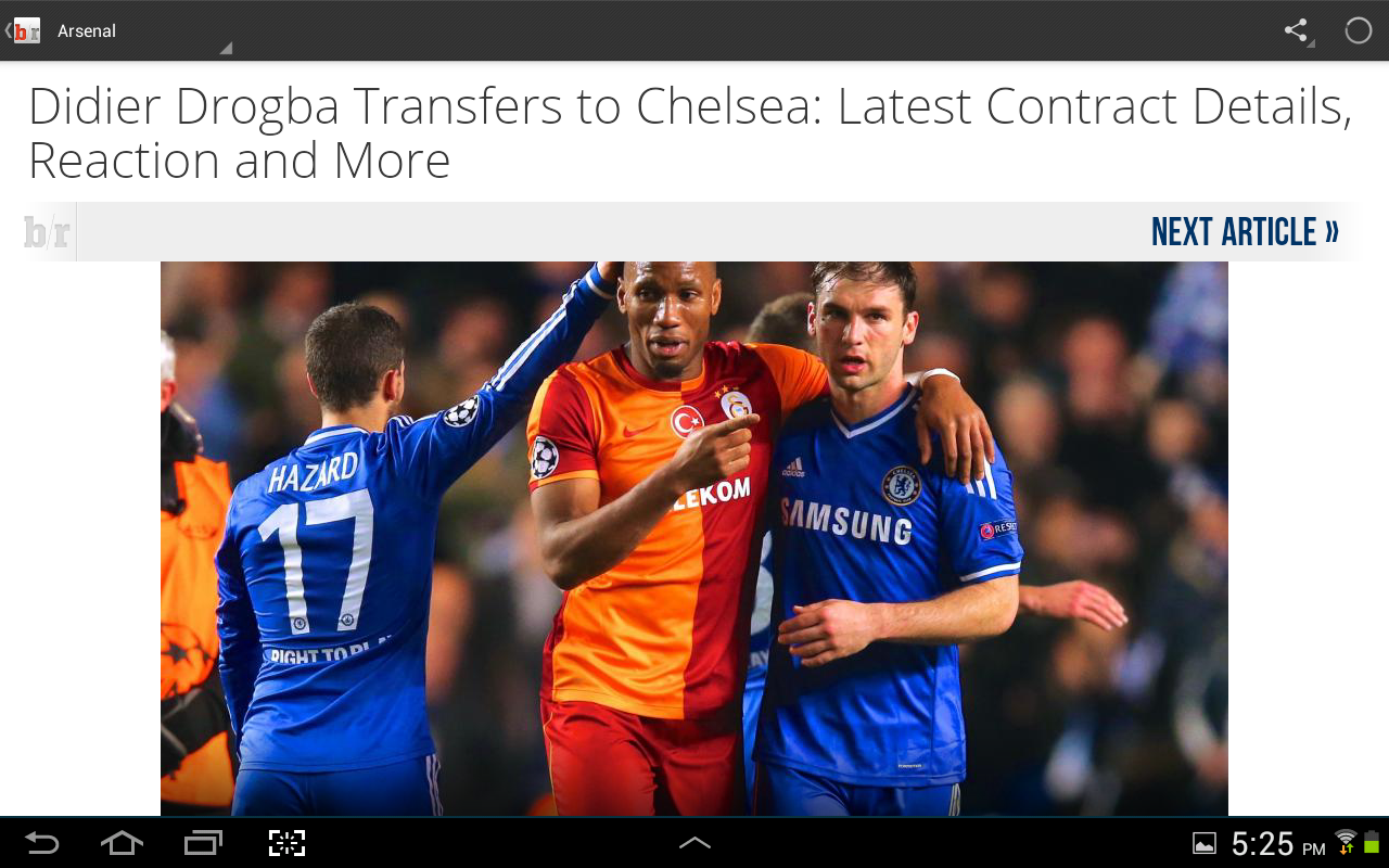 Android Bleacher Report Screen 2