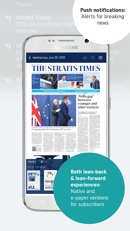 The Straits Times for Smartphone 6.7.9 Screen 3