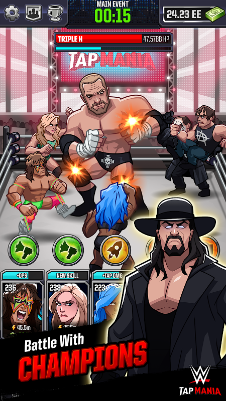 Android WWE Tap Mania Screen 3