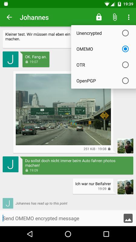 Conversations (Jabber / XMPP) 1.23.3 Screen 4