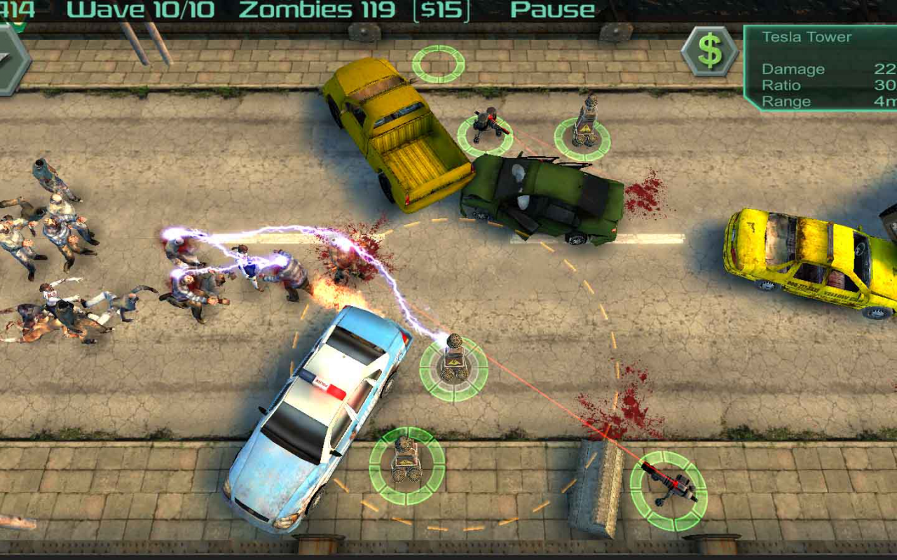 Android Zombie Defense Screen 1
