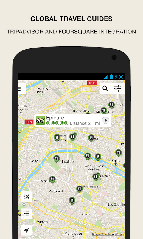 Android GPS Navigation & Maps - Scout Screen 6
