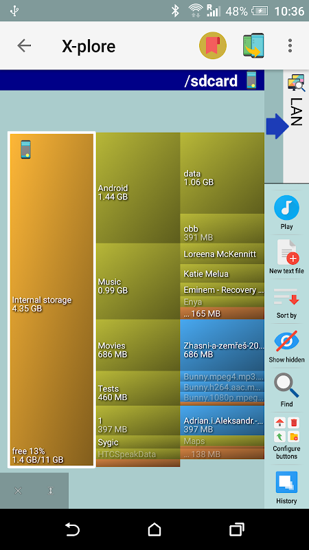 Android X-plore File Manager Screen 6