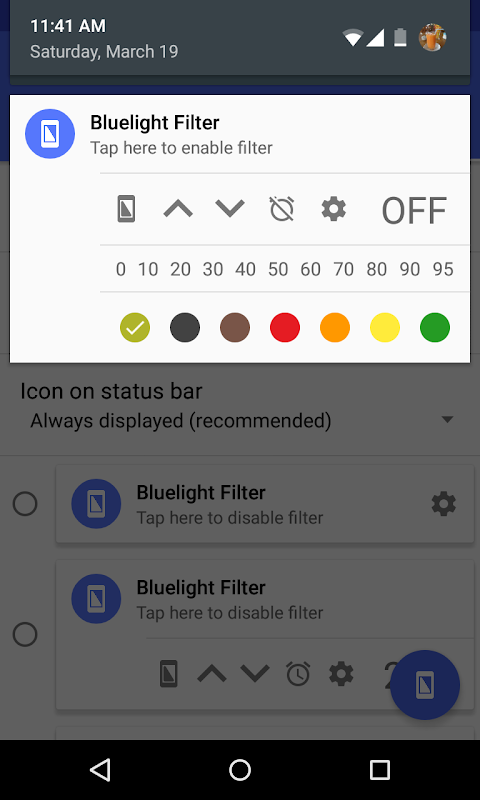 Bluelight Filter for Eye Care 2.9.24 Beta 3 Screen 3