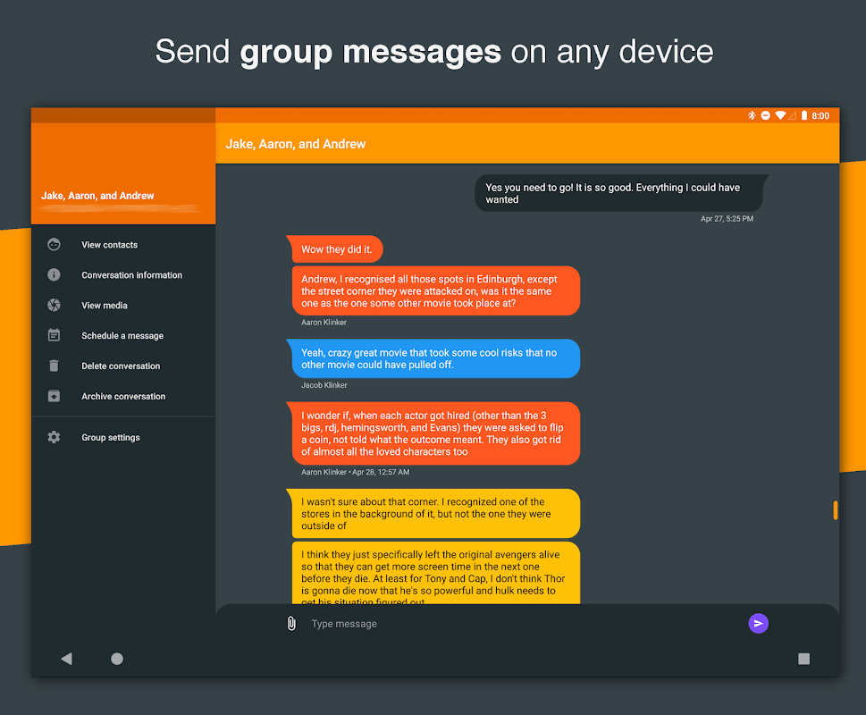 Android Pulse SMS (Phone/Tablet/Web) Screen 16
