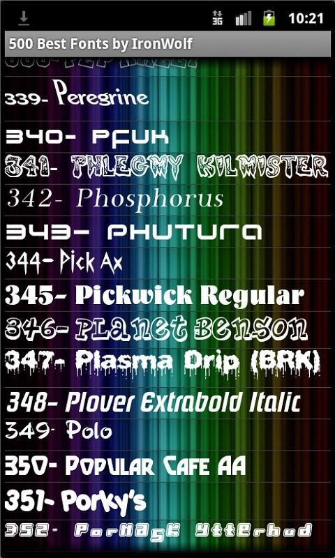 500 Best Fonts by IronWolf APKs | Android APK