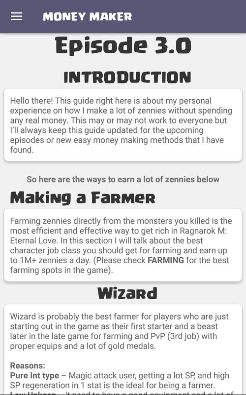 Android Ragnarok M Guide: GlobalSEA Screen 4