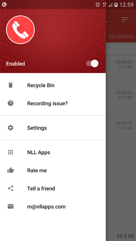 Android Call Recorder - ACR Screen 10
