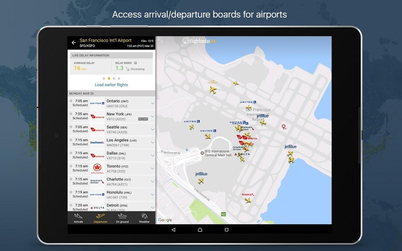 Android Flightradar24 Flight Tracker Screen 8