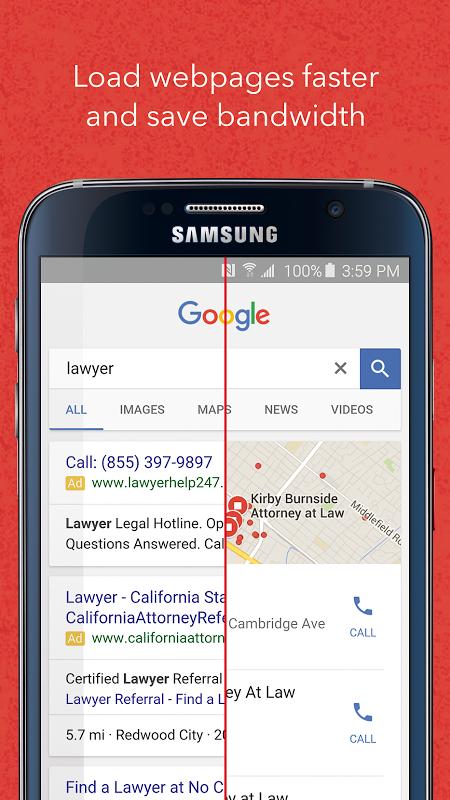 Android Adblock Fast Screen 1
