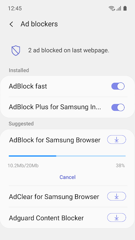 Samsung Internet Browser 9.3.00.15 Screen 2