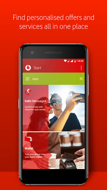 Android Vodafone Start Screen 2