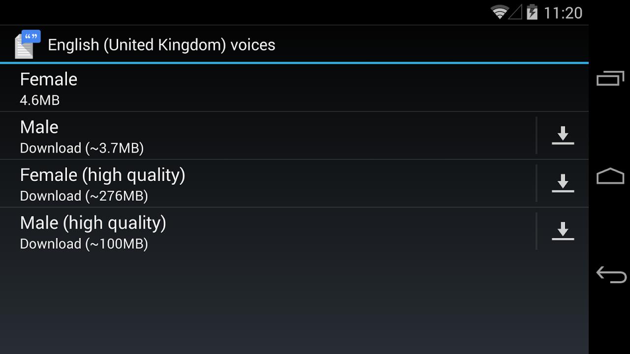 Google Text-to-speech Engine 3.8.16 Screen 11