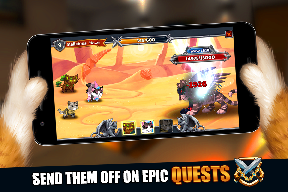 Android Castle Cats: Epic Story Quests Screen 5