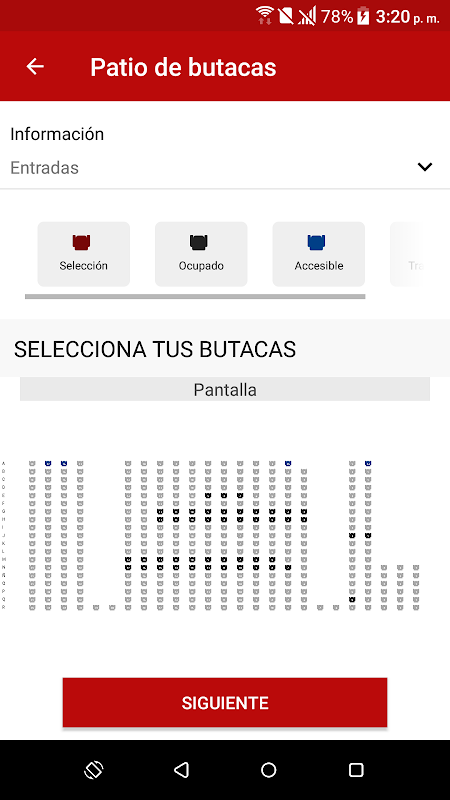 Android Yelmo Cines App Screen 3