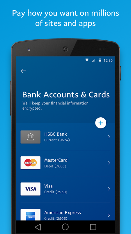 Android PayPal Screen 3