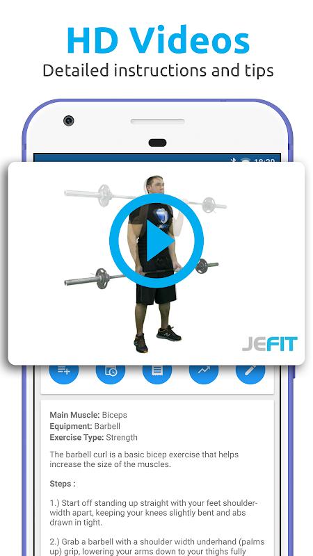 JEFIT Workout Tracker, Weight Lifting, Gym Log App 10.13 Screen 7