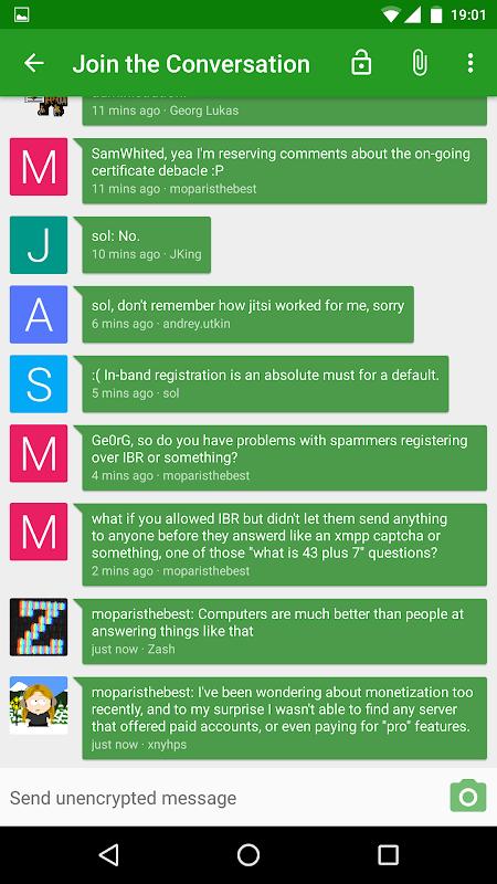Android Conversations (Jabber / XMPP) Screen 3
