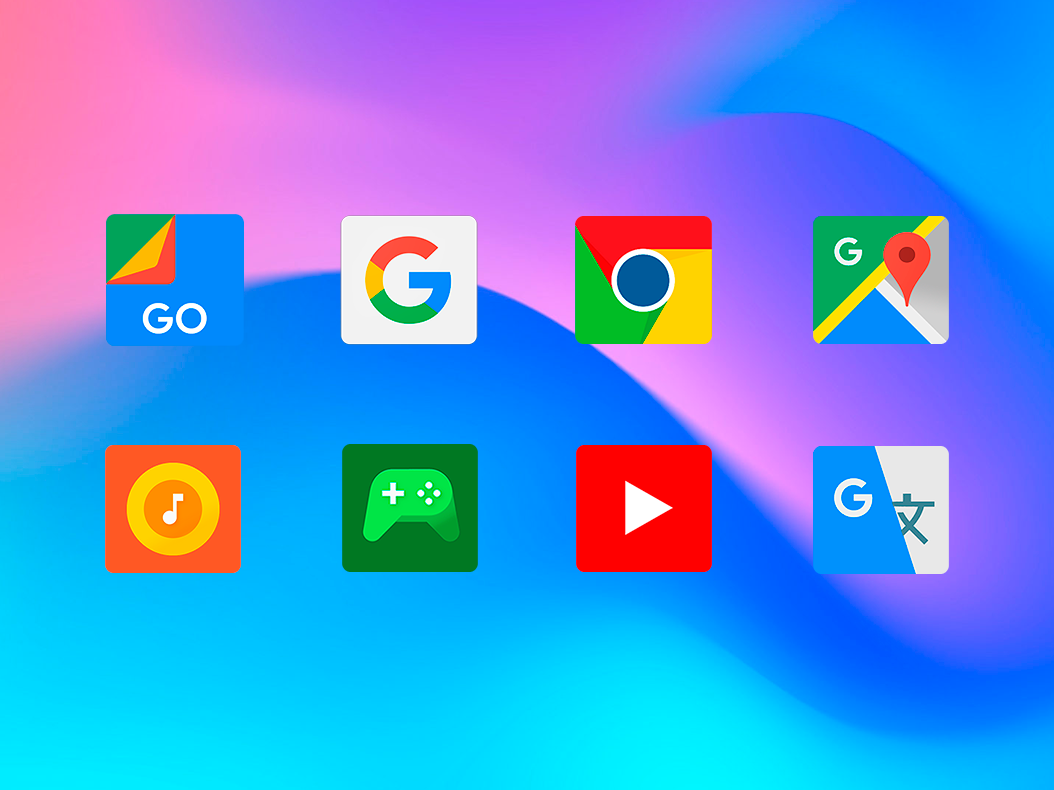 Android MIUI 10 - Limitless icon pack and theme Screen 1