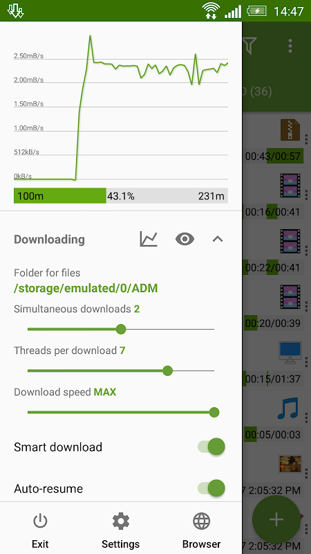 Advanced Download Manager 7.5 Screen 5
