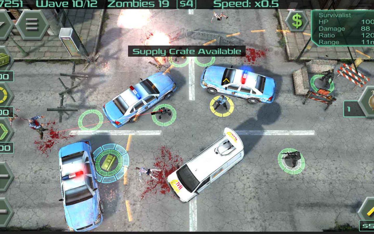 Android Zombie Defense Screen 2