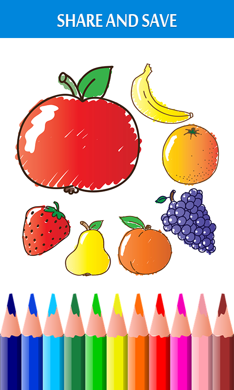 Android Fruits Coloring Book & Drawing Book Screen 3