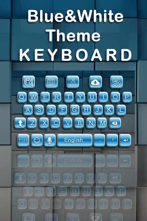 Android Blue White Keyboard Screen 1