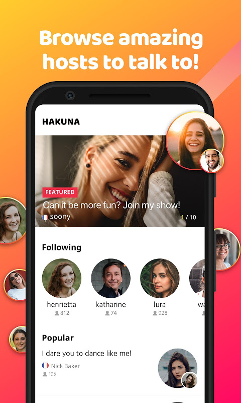 Android HAKUNA Live - Meet, Chat and Play Live Screen 4