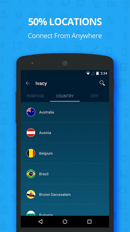 Android Ivacy VPN - Best Fast VPN Screen 9
